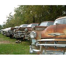 rusty cars Photographic Print