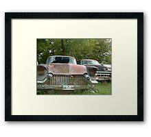 rusty car Framed Print