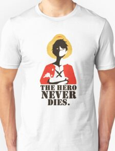 One Piece The Hero Never Dies Monkey D. Luffy Mugiwara Strawhats Pirates Anime Cosplay T Shirt T-Shirt
