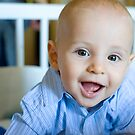 Baby Calvin in a blue shirt by Calvin Smith