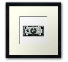 One Cyber Dollar Etching Framed Print