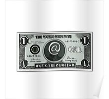 One Cyber Dollar Etching Poster