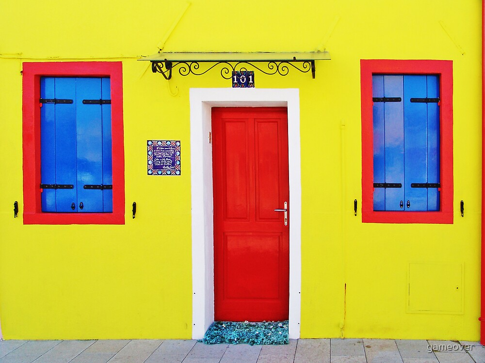 Burano - lemon yellow by Luisa Fumi