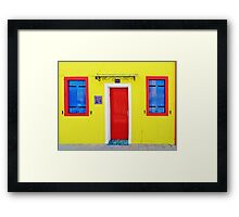 Burano - lemon yellow Framed Print
