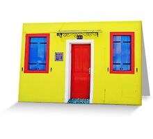 Burano - lemon yellow Greeting Card