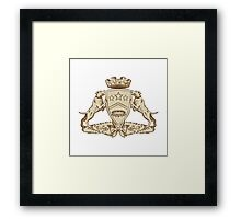 Pitbull Dog Coat of Arms Etching Framed Print