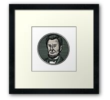 Victorian Gentleman Goatee Etching Framed Print