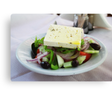 Lovely Greek salad Canvas Print