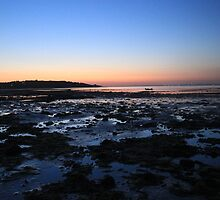 Bembridge Beach at Sunset by Phill Sacre