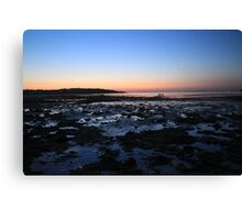 Bembridge Beach at Sunset Canvas Print