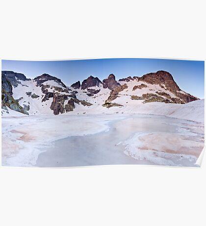 Frozen sunrise Poster