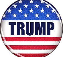 Vote Trump button by Carsten Reisinger