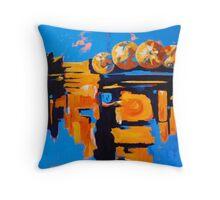 funky oranges Throw Pillow