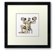 High Intensity Interval Training Dumbbell Etching Framed Print