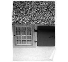 Burns Cottage Window Poster