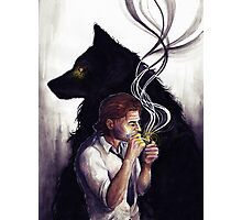 Big bad wolf Photographic Print