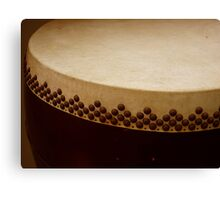 temple drum Canvas Print