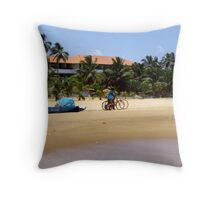 BEACH BIKES. SRI LANKA. Throw Pillow
