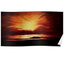 Sunset over the Indian Ocean Poster