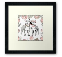 Bull Terrier dog Framed Print