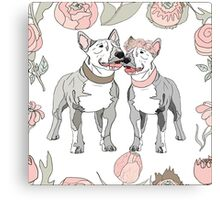 Bull Terrier dog Canvas Print