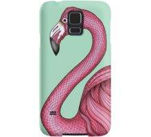 Pink Flamingo on Turquoise Background Samsung Galaxy Case/Skin