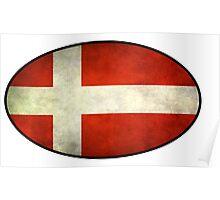 Denmark Flag Poster