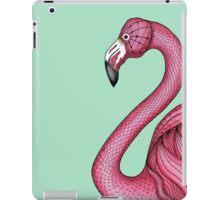 Pink Flamingo on Turquoise Background iPad Case/Skin