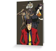 lupin the 3rd third fujiko jigen goemon inspector zenigata anime manga shirt Greeting Card