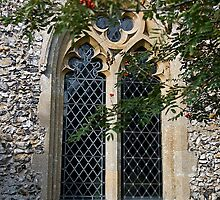 Cockley Cley Church window by BizziLizzy