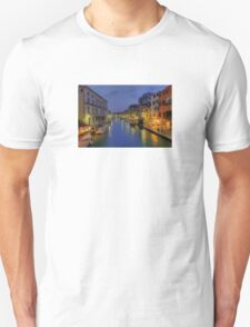 Venice Canal Romantic Night Photo Unisex T-Shirt