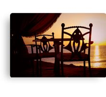 Sunrise Breakfast  Canvas Print