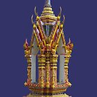 Thailand-Shrine at Wat Nuan Naram- Koh Samui by DAdeSimone