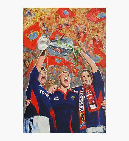 Munster Heiniken Cup Winners 2008 Photographic Print