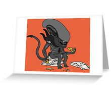 Alien? Pizza? Greeting Card