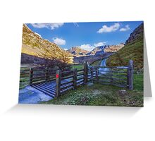 The Road to Tryfan Greeting Card