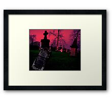 Cemetary in Ohio Framed Print