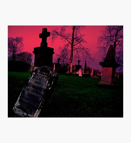 Cemetary in Ohio Photographic Print