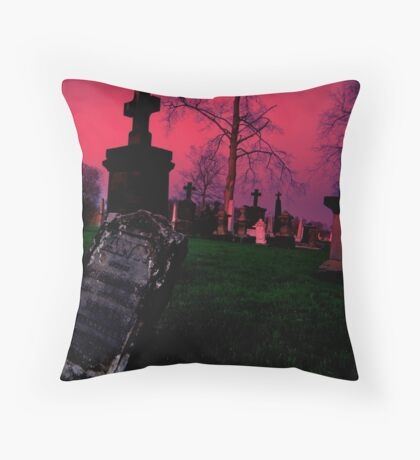 Cemetary in Ohio Throw Pillow