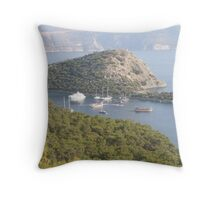 Bay View on the Turquoise Coast Throw Pillow