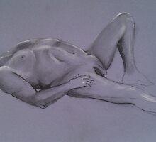 Reclining Male Nude #1 by Jan Szafranski