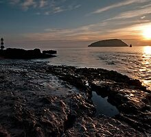 High Tide at Penmon Point, Anglesey. by Ian Leyland