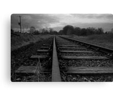 The Abandoned Line Canvas Print