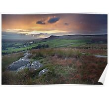 An Embsay Crag Sunset Poster