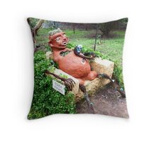 """""""Couch Potato"""" on farm called """"Woop Woop"""" - Castlemaine, Vic. Throw Pillow"""