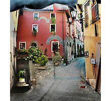 Street in Barga, Italy Photographic Print