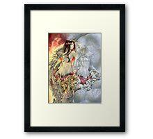 Chaos Sisters  Quelaag and Fair Lady (Quelan) Framed Print