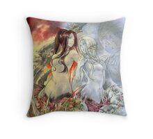 Chaos Sisters  Quelaag and Fair Lady (Quelan) Throw Pillow