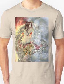 Chaos Sisters  Quelaag and Fair Lady (Quelan) Unisex T-Shirt
