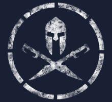 Spartan Emblem (White) Kids Tee